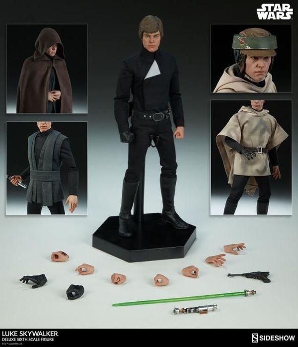 Sideshow 1:6 Deluxe ROTJ Luke Skywalker Figure Available For Pre-Order At BBTS #StarWars