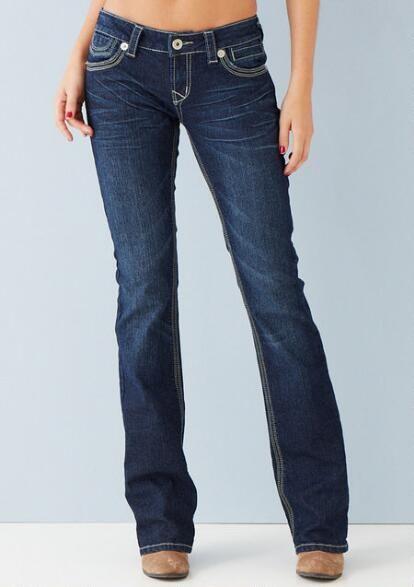 Rocker Thick Stitch Bootcut Jean
