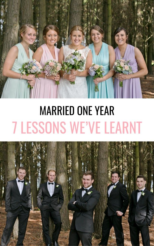 Marriage tips that we've learnt in our first year. Side note: don't the bridesmaids look good in mismatched pastel dresses and the groomsmen look handsome in their black suits?
