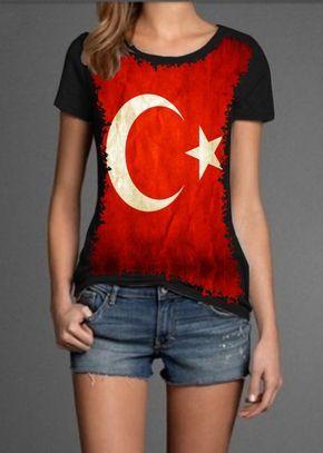 Camiseta Turquia Bandeira - Banca de Camisetas - Opções que combinam com seu jeito.