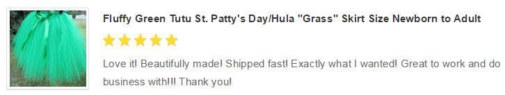 """Fluffy Green Tutu St. Patty's Day/Hula """"Grass"""" Skirt Size Newborn to Adult"""