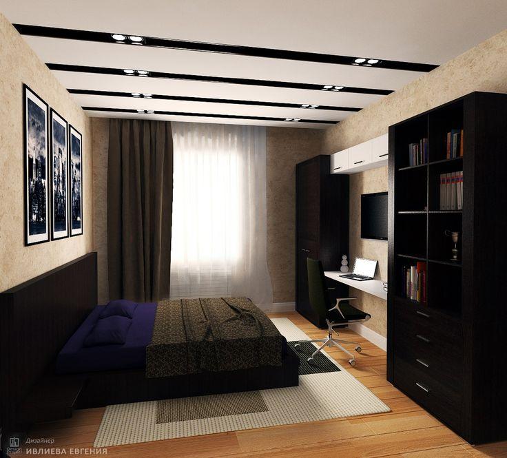 Спальня для мальчика в стиле минимализм от мастерской IvE interior.   Автор проекта:  Ивлиева Евгения (художник проектировщик и дизайнер интерьеров)