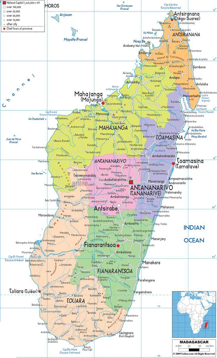 Political Map of Madagascar