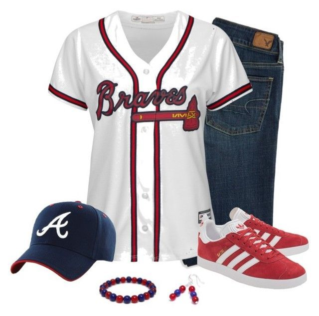 Atlanta Braves Game Day By Carriefdix On Polyvore Shop The Spirit Collection Today To Find Your Braves Game Outfit Atlanta Braves Outfit Football Game Attire