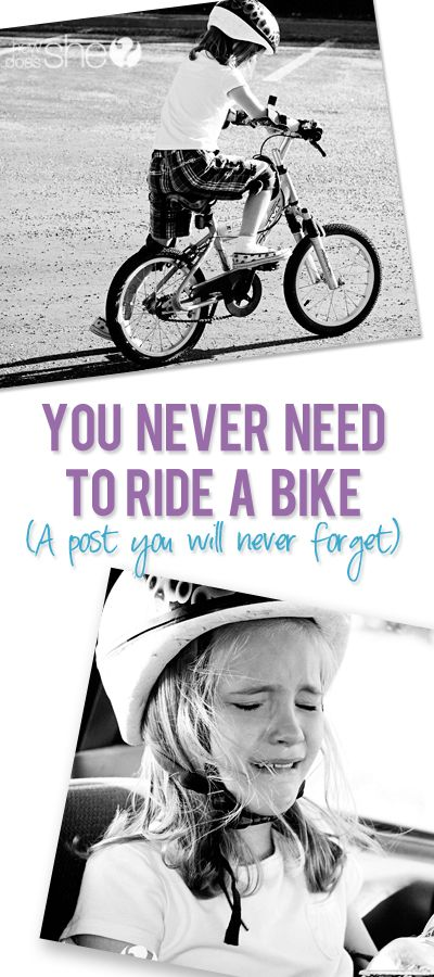 You Never Need to Learn to Ride a Bike  #howdoesshe #bikeriding #parentingtips #teachingkids #lifelessons #bikes  howdoesshe.com