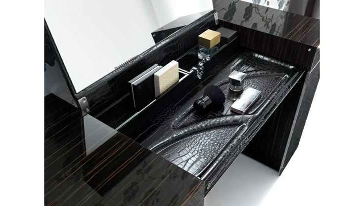 Stylish Design Furniture - Rossetto Nightfly Black Dressing Table , $1,880.00 (http://www.stylishdesignfurniture.com/products/rossetto-nightfly-black-dressing-table.html)