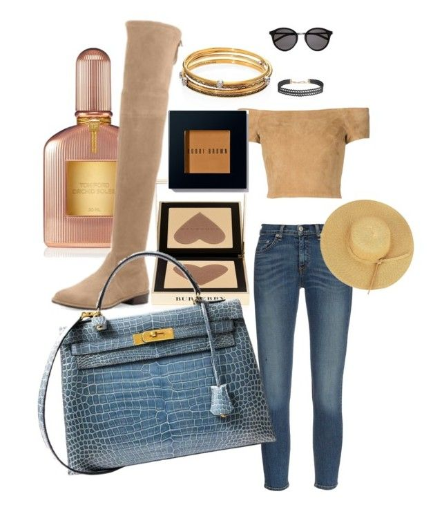 """""""Untitled #5"""" by fatgandalfqwq on Polyvore featuring rag & bone, Yves Saint Laurent, Humble Chic, Burberry, Tom Ford, Stuart Weitzman, Hermès, Alexander McQueen, Alice + Olivia and Bobbi Brown Cosmetics"""