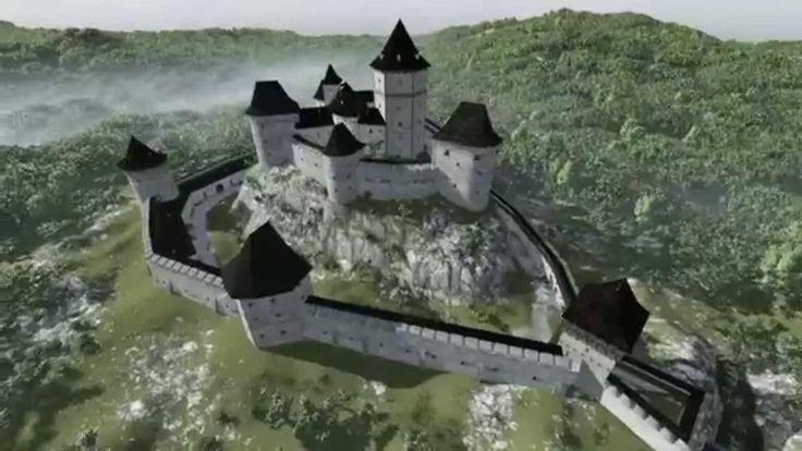 Zboró vára,  Zborovský hrad (látványrajzok)