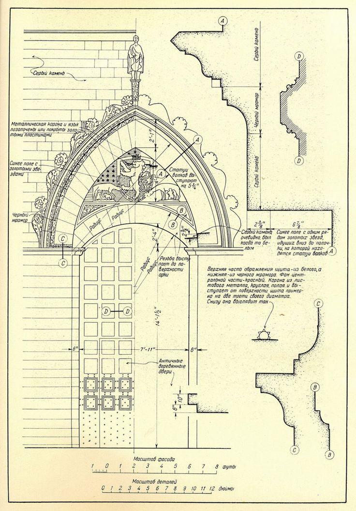 Сиена. Главный вход Палаццо Публико. Двери и порталы в итальянской архитектуре
