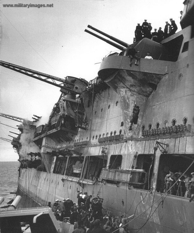 HMS Ark Royal listing while sinking