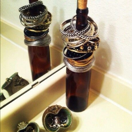 What to do with old wine bottles!