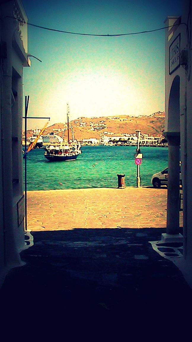 On the way to Mykonos old port....