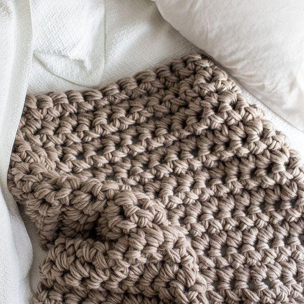 Hand Crochet Throw Blanket Kit