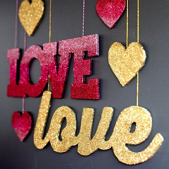 Beautiful Gold And Ombre Signs With Martha Stewart Crafts Glitter To Spice Up Your Valentineu0027s  Day Decor!