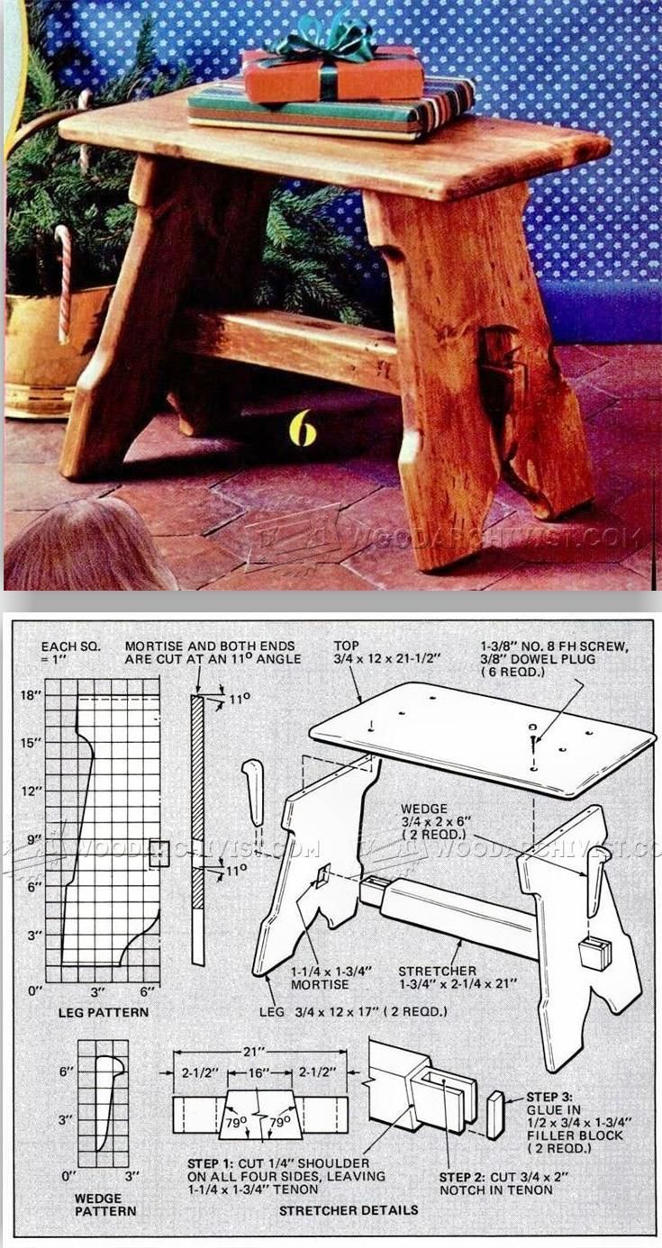 Stool Plans - Furniture Plans and Projects | WoodArchivist.com