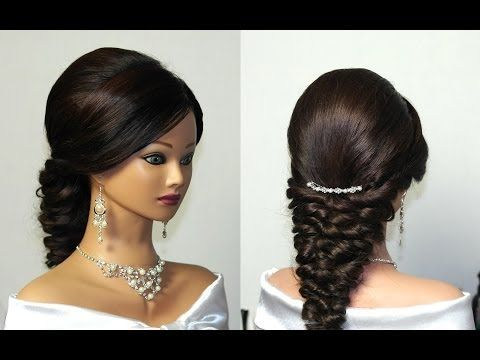 ▶ Свадебная прическа, вечерняя прическа. Wedding prom hairstyles for long hair - YouTube