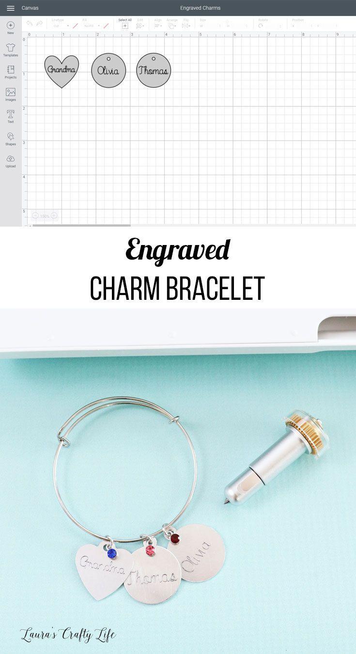 Engraved Charm Bracelet Cricut Maker Engraving Tip Cricut Handmade Jewelry Designs Diy Cricut