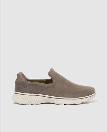Zapatillas de lona de hombre Skechers de color beige
