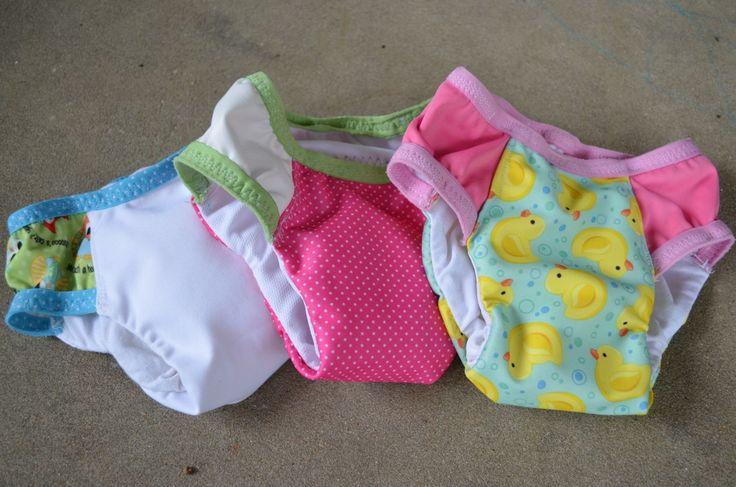 Potty training underwear for my 2 year old.  They are so much less expensive than Pull-ups. - made with #Babyville fabrics too