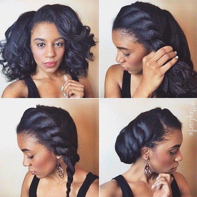 Penteados para o cabelo africano #jornadadecabelo #hairjourney #hairstylesforblackhair #cabelonatural #cabelodesfrisado #naturalhair #relaxedhair #gorgeousblackwomen #cabelosafricanos