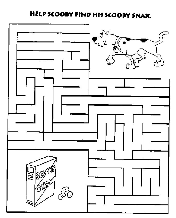 scooby doo printable maze - Google Search