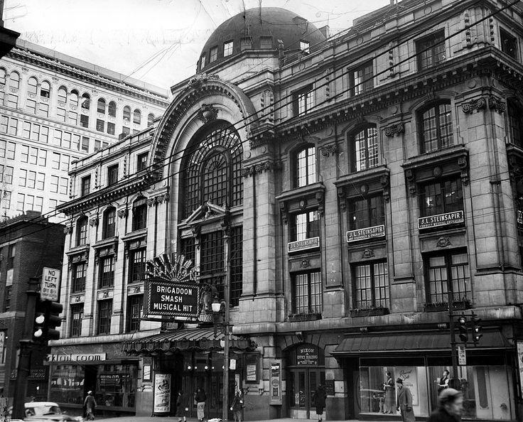 The Nixon Theater opened in 1903 on Sixth Avenue and staged some elaborate productions. In 1950 it was sold to Alcoa and later demolished, replaced by the aluminum company's headquarters.