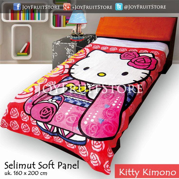 selimut bulu lembut halus (soft panel) kitty kimono joyfruitstore.com pin bbm 74258162, wechat joyfruitbedcover, whatsapp 081931151596