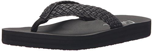 cobian Womens All Day Braided Bounce Flip Flop Black 9 M US ** You can find out more details at the link of the image.