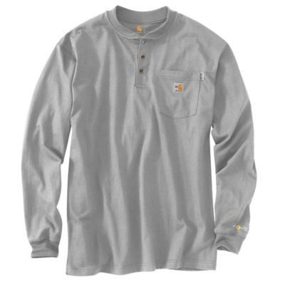 Carhartt FLAME-RESISTANT FORCE® COTTON LONG-SLEEVE HENLEY
