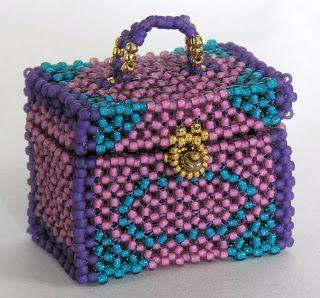 Seed Bead Box Instructions | ... Beaded Bead, Suitcase, Vanity Case, Treasure Box, Book Box, Pincushion