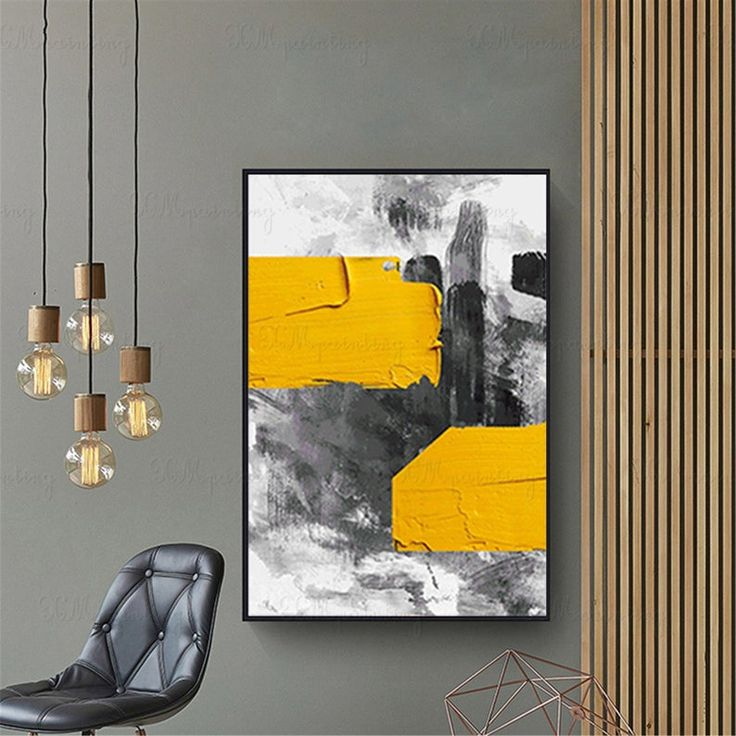 gold acrylic abstract painting on canvas wall art picture on modern acrylic paintings for living room id=90477