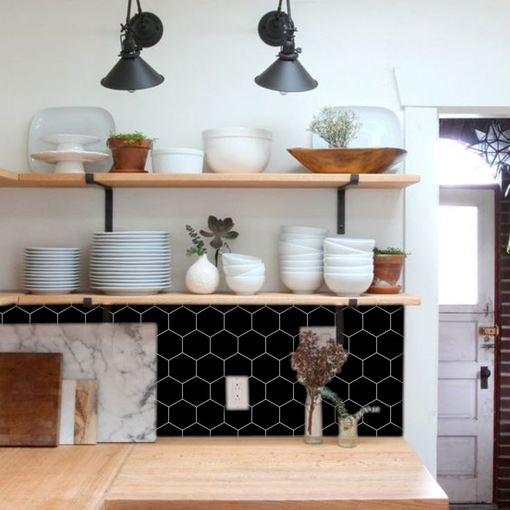 kitchen and bathroom splashback  removable vinyl