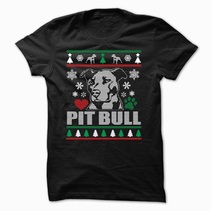 PIT BULL Ugly Christmas Sweater-style Printed Tee!