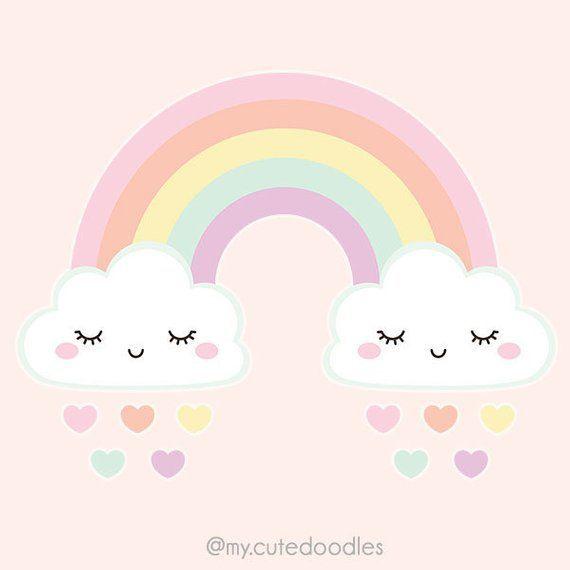 Cute Weather Clipart Pastel Rainbow Clipart Kawaii Cloud Clipart Scrapbook Cute Planner Accessories Kawaii Wheat Rainbow Clipart Kawaii Cloud Cute Doodles