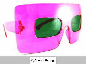 Menagerie Big Square Sunglasses - 185 Pink