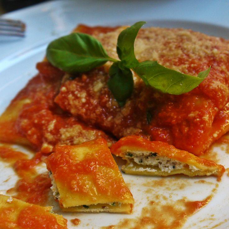 Ravioli di ricotta é spinaci chez Pimm's Good à Rome dans le quartier de Trastevere