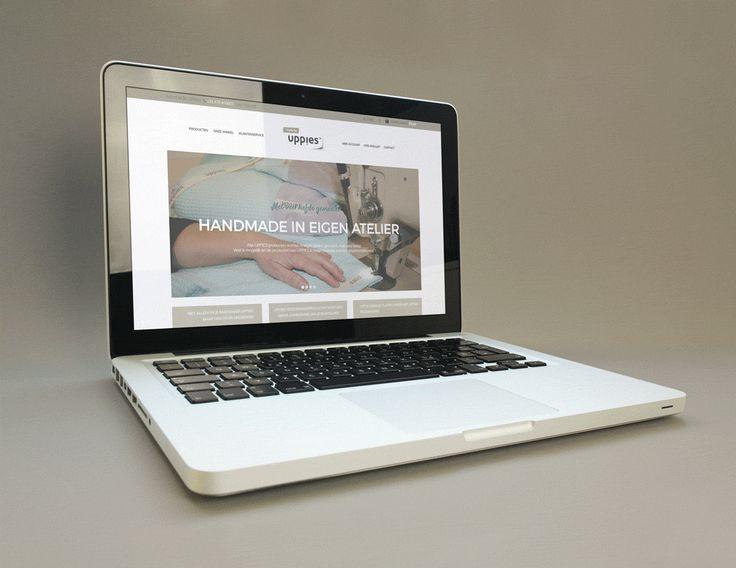 Webwinkel voor babyproducten in huisstijl