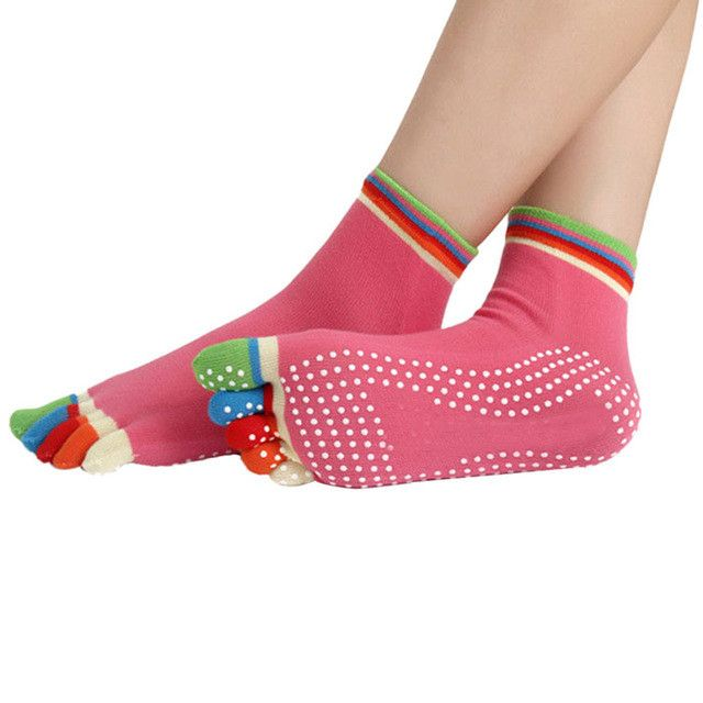 2015 New Arrival Sexy Women/Girl Summer style multi Color Sock Exercise Design 5 Toes Cotton Socks 1 pcs Quality first