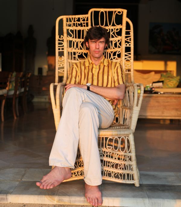 stefan sagmeister & his balinese chair