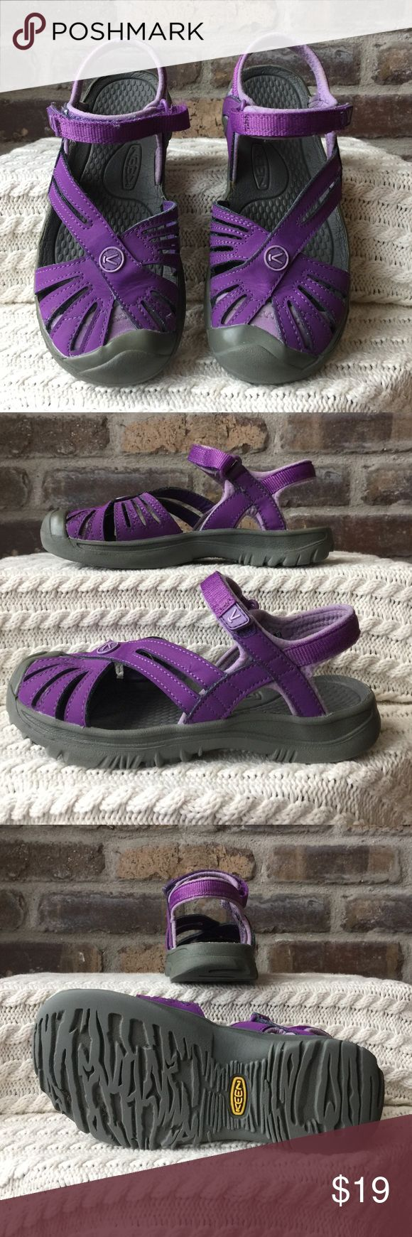 Keen Sandals Girls size 2 Keen purple sandals. They have been worn but are still in good condition. Keen Shoes Sandals & Flip Flops