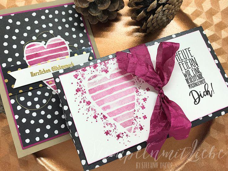 Stampin Up - Bewerbung für die OnStage Schauwand - Verpackung - Karte - Sommerbeere ♥ StempelnmitLiebe