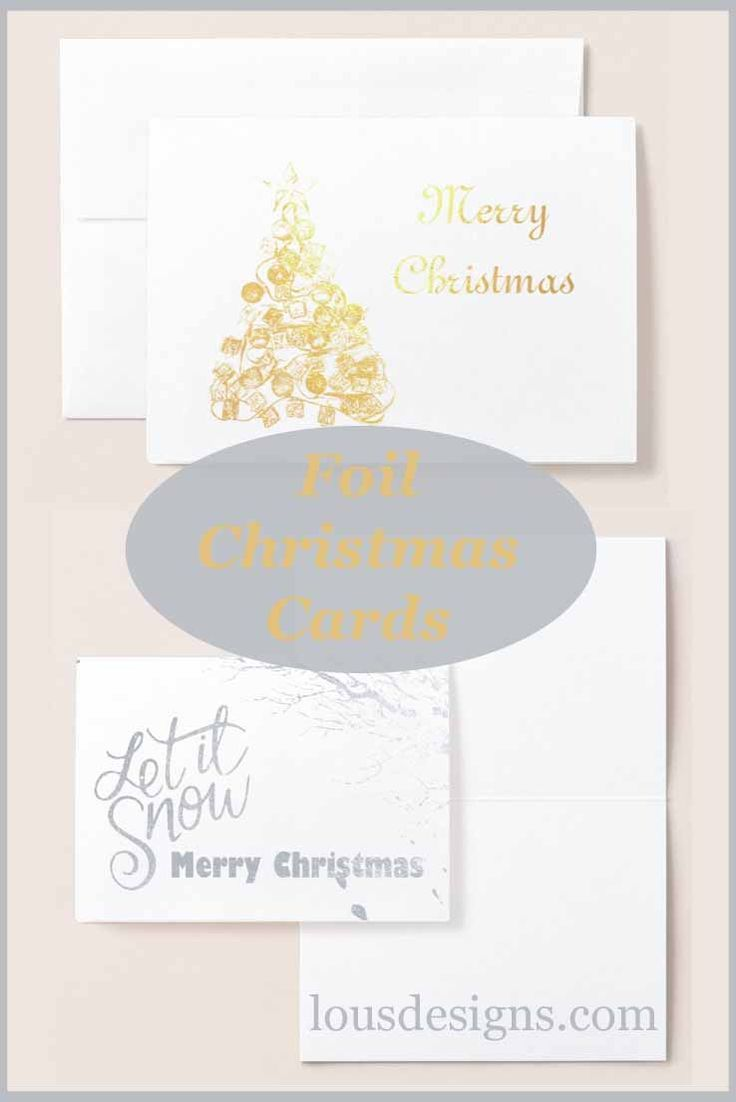 Foil Christmas cards, add a simple elegance to your cards this year with these foil greeting cards.