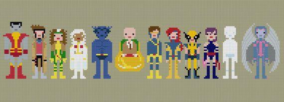 Pixel People X-Men PDF Cross-stitch Pattern by weelittlestitches