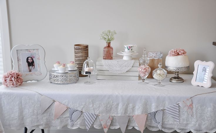 Vintage Tea Party Dessert Table