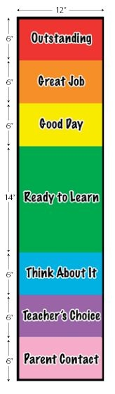 It is a graphic of Unforgettable Red Yellow Green Behavior Chart Printable