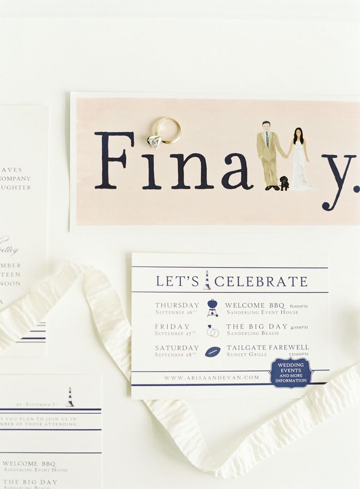 Finally card for wedding day