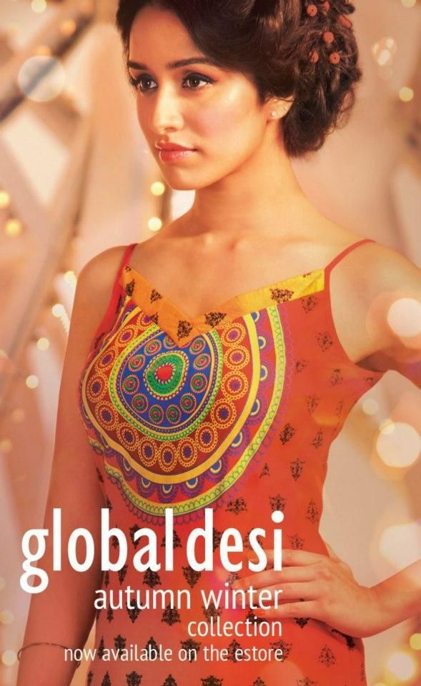 Shraddha Kapoor for Global Desi http://globaldesi.in/