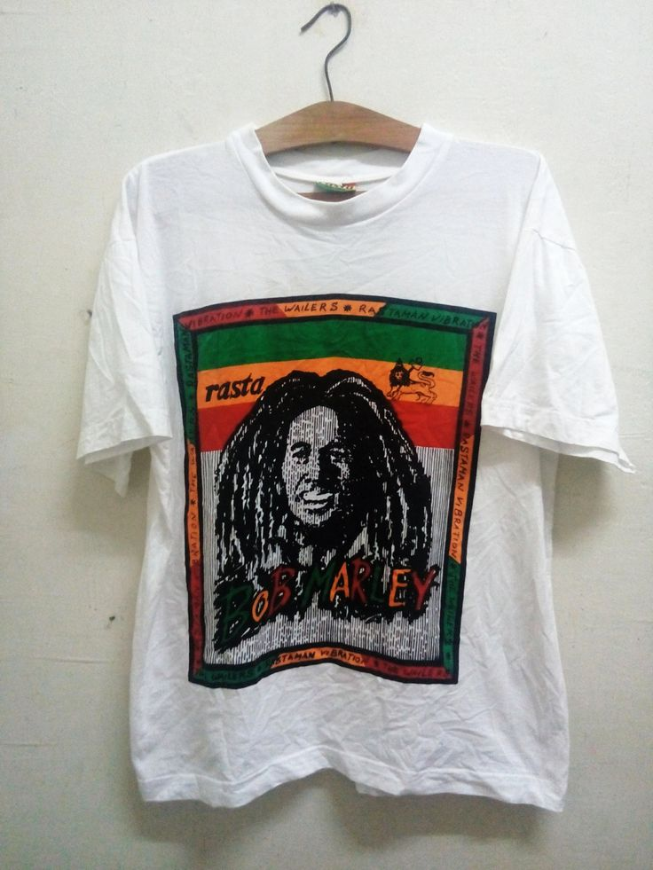 Sale Rare !! Vintage Rasta Factory Hand Made BOB Marley and the wailers t-shirt pop art celebrity Fashion Swag Music Sz M by Psychovault on Etsy
