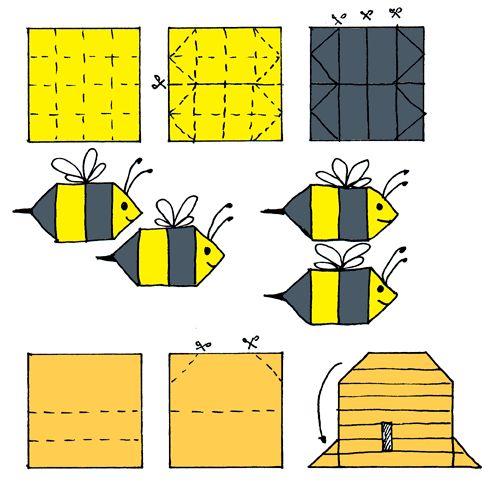 Bijtjes en een bijenkorf