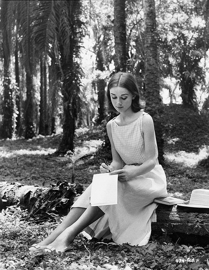 "Leo L Fuchs - Audrey Hepburn on the set of ""The Nun's Story"""